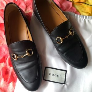 99670f9a2dd Gucci Jordaan Black Leather Loafers 38 Horsebit